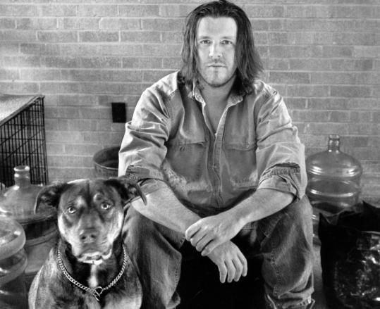 David Foster Wallace with friend by MARION ETTLINGER