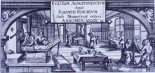 17th-century printer's shop (copper engraving, Bernhard Malinckrot, Cologne 1640)