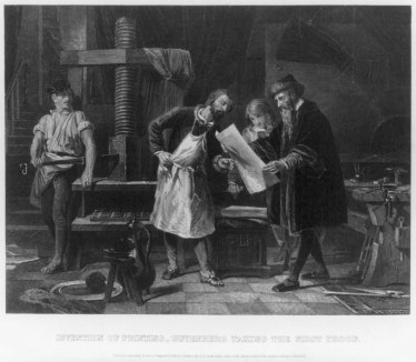 birth of the printing press