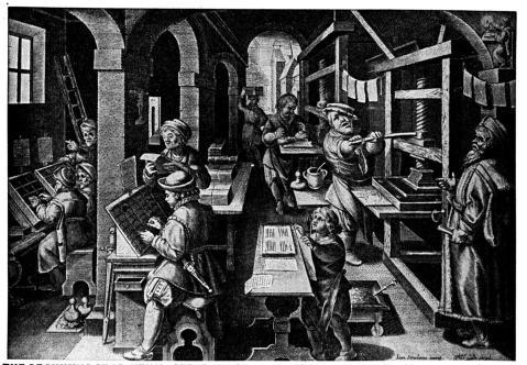 medieval print shop